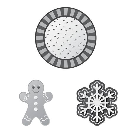 Isolated object of biscuit and bake icon. Collection of biscuit and chocolate vector icon for stock. Ilustração