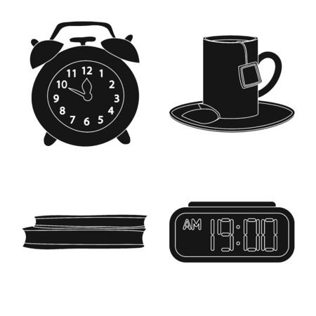 Vector design of dreams and night icon. Set of dreams and bedroom vector icon for stock.