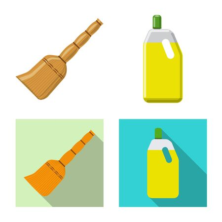 Isolated object of cleaning and service icon. Collection of cleaning and household vector icon for stock. 일러스트