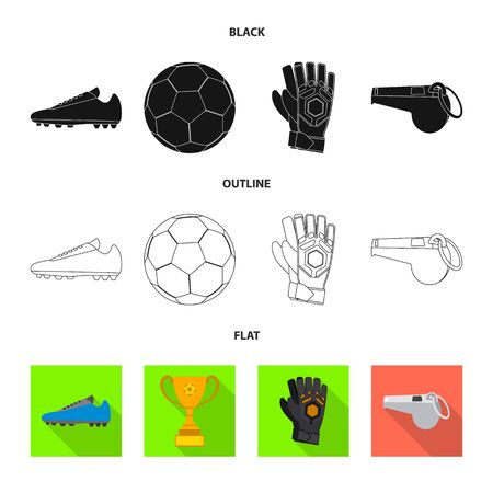 Vector design of soccer and gear symbol. Set of soccer and tournament vector icon for stock. Stock Illustratie