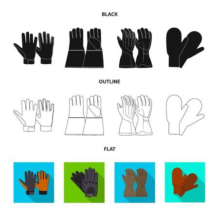 Isolated object of glove and winter logo. Collection of glove and equipment vector icon for stock. Ilustrace