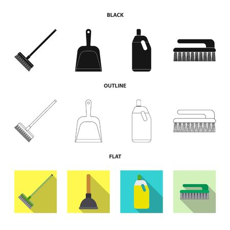 Vector design of cleaning and service logo. Set of cleaning and household vector icon for stock.