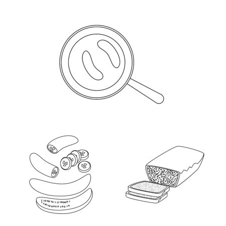 Vector illustration of organic and potassium symbol. Collection of organic and diet vector icon for stock.