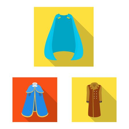 Vector design of material and clothing  . Set of material and garment vector icon for stock. Ilustrace