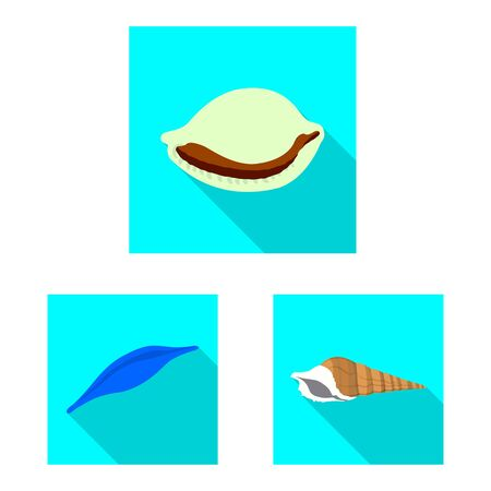 Vector design of animal and decoration . Collection of animal and ocean stock symbol for web.