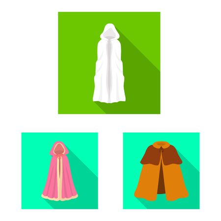 Isolated object of material and clothing icon. Collection of material and garment stock vector illustration.