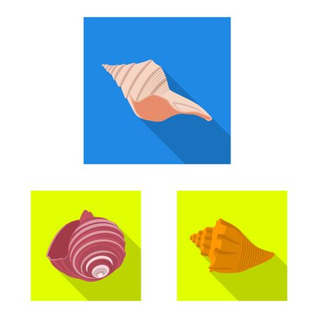 Isolated object of animal and decoration icon. Set of animal and ocean stock vector illustration.