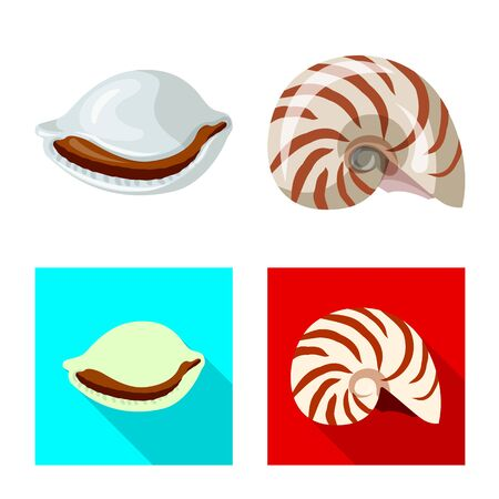 Isolated object of animal and decoration . Set of animal and ocean vector icon for stock.