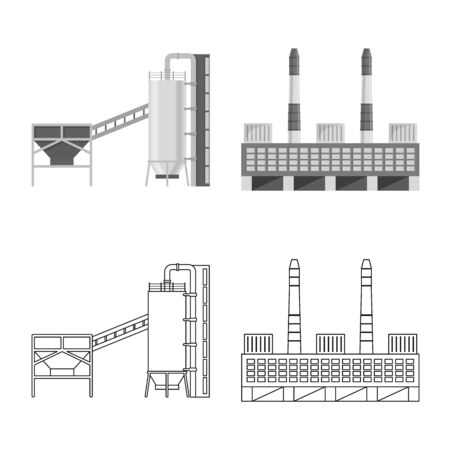 Vector design of production and structure . Set of production and technology vector icon for stock.