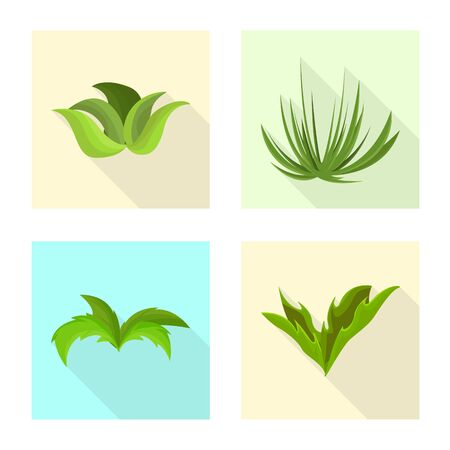 Vector design of landscaping and summer icon. Collection of landscaping and environment stock symbol for web. Ilustração