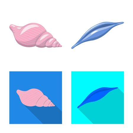 Vector illustration of animal and decoration icon. Collection of animal and ocean stock symbol for web.
