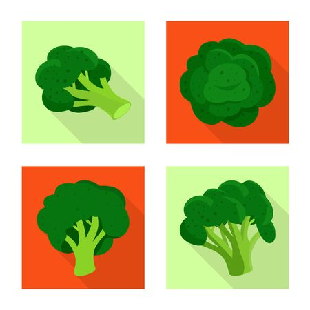 Vector illustration of eating and diet icon. Set of eating and vegetarian vector icon for stock.