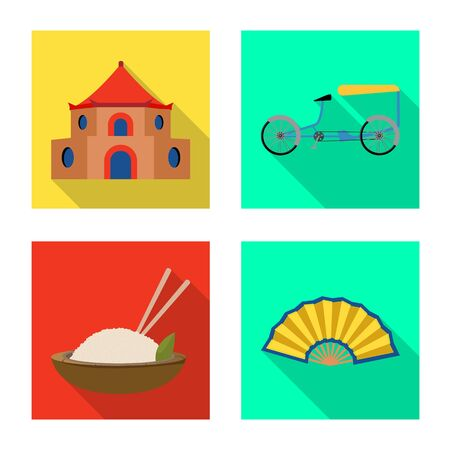 Vector illustration of travel and country icon. Collection of travel and asia stock vector illustration.