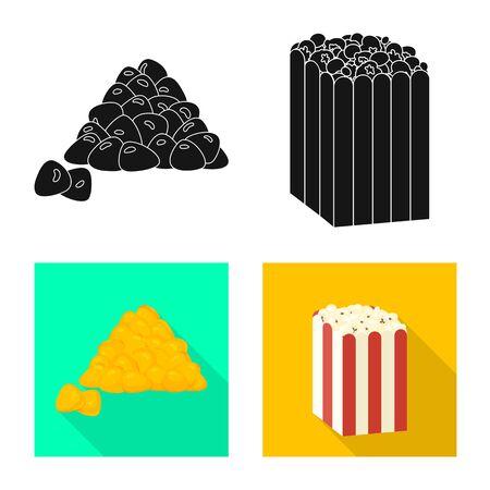 Vector design of cornfield and vegetable symbol. Collection of cornfield and vegetarian stock vector illustration. Ilustracja