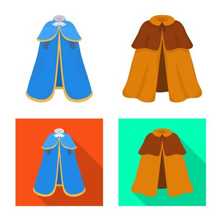 Vector design of material and clothing . Collection of material and garment vector icon for stock. Ilustrace