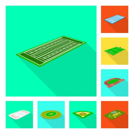 Vector design of playground and sport symbol. Collection of playground and scene stock symbol for web.