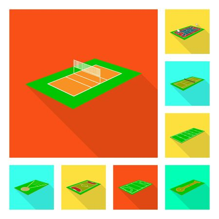 Vector design of playground and sport icon. Collection of playground and scene stock symbol for web.