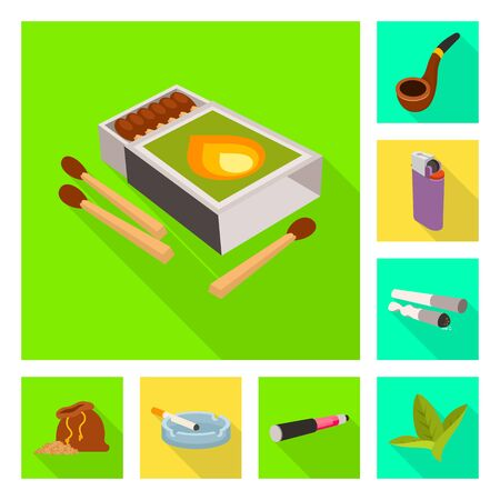 Vector illustration of accessories and harm symbol. Set of accessories and euphoria vector icon for stock.