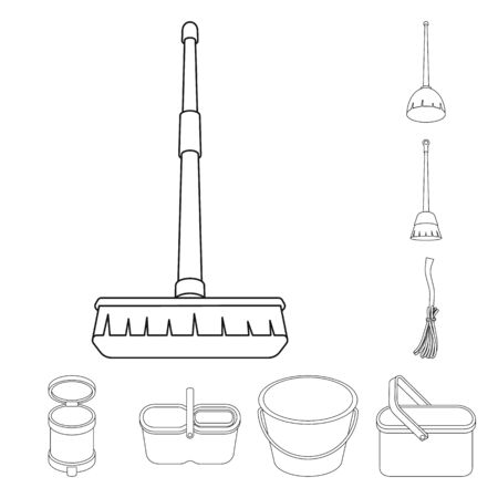 Isolated object of hygiene and clean icon. Collection of hygiene and mopping vector icon for stock.