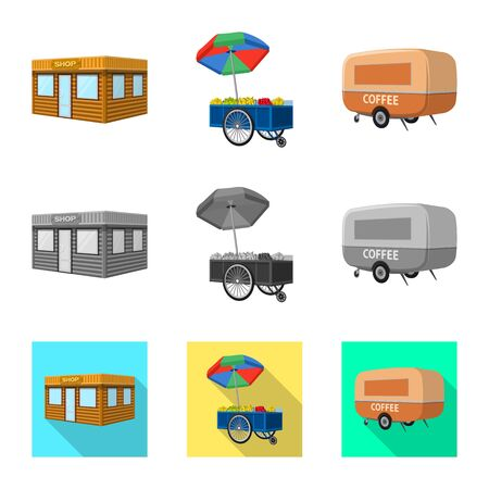 Vector illustration of marketing and tent icon. Collection of marketing and outdoor stock vector illustration.
