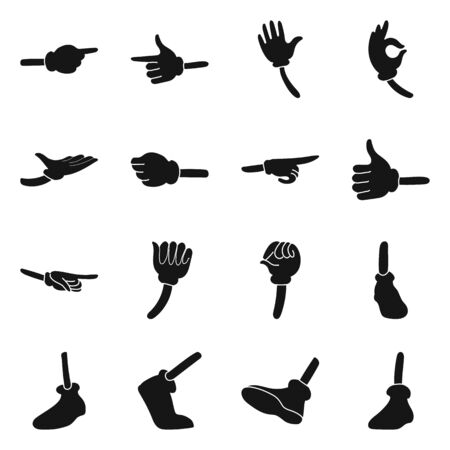 Vector design of gestures and information sign. Set of gestures and animation stock vector illustration.
