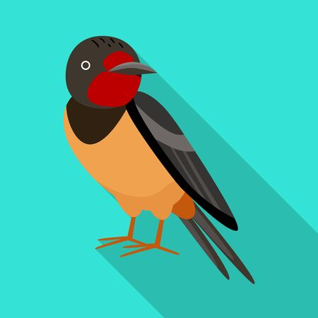 Isolated object of bird and nightingale . Set of bird and small stock vector illustration.