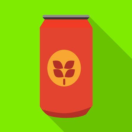 Ilustración de vector de lata y símbolo rojo. Conjunto de ilustración de vector stock lata y estaño.