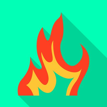 Isolated object of bonfire and ignition icon. Collection of bonfire and warm vector icon for stock. Illustration