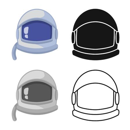 Isolated object of helmet and spaceman sign. Collection of helmet and mask vector icon for stock.