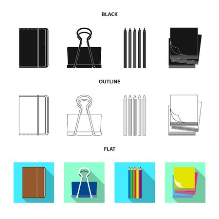 Vector design of office and supply symbol. Collection of office and school stock vector illustration.