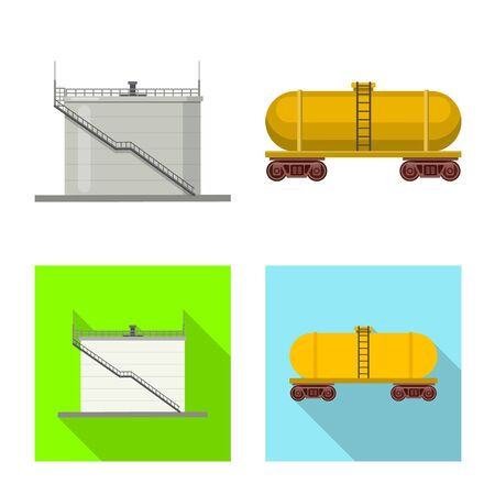 Vector illustration of oil and gas  . Collection of oil and petrol stock symbol for web.