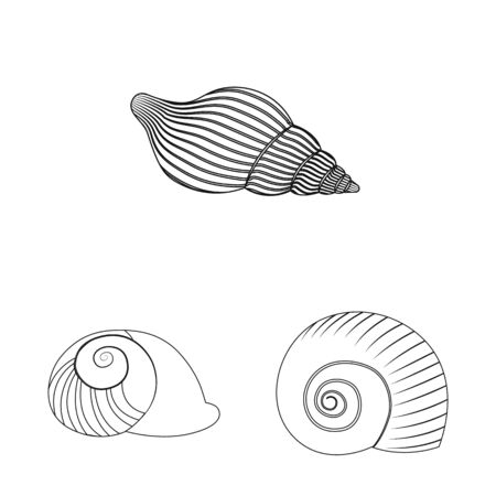 Vector illustration of exotic and seafood. Set of exotic and aquatic stock symbol for web.