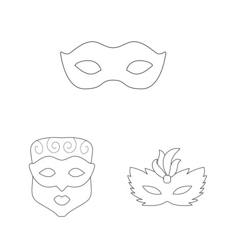 Vector illustration of masquerade and mystery icon. Set of masquerade and festival stock vector illustration. Vektorgrafik