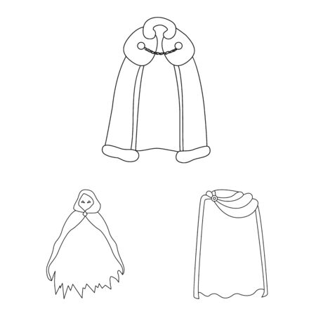 Vector design of robe and garment icon. Collection of robe and cloth vector icon for stock. Ilustrace