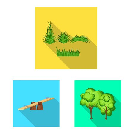 Isolated object of urban and street sign. Collection of urban and relaxation stock vector illustration.