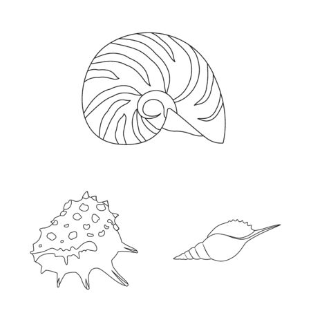 Isolated object of exotic and seafood sign. Collection of exotic and aquatic vector icon for stock.