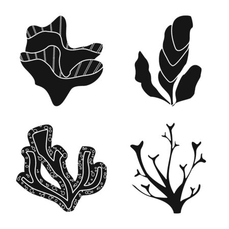 Vector illustration of decoration and wildlife  . Collection of decoration and aquarium stock vector illustration.
