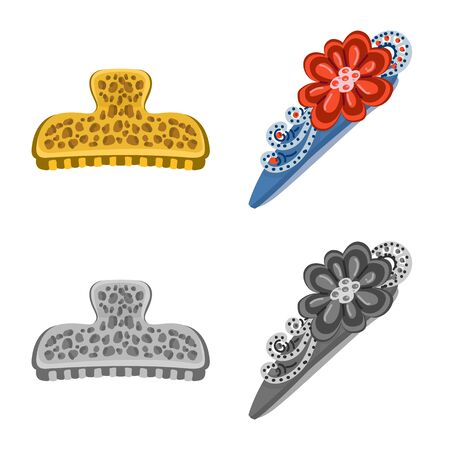 Isolated object of beauty and fashion icon. Set of beauty and female vector icon for stock.