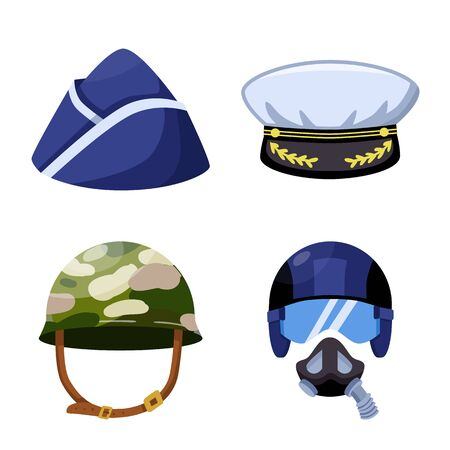 Vector illustration of army and officer sign. Set of army and soldier vector icon for stock.