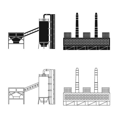 Isolated object of production and structure  . Collection of production and technology stock vector illustration.