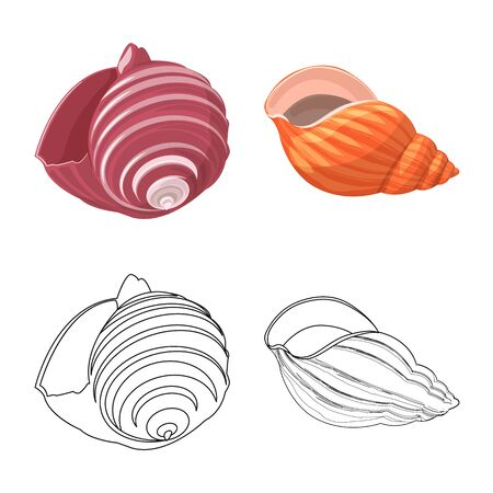 Vector design of animal and decoration icon. Collection of animal and ocean stock vector illustration.