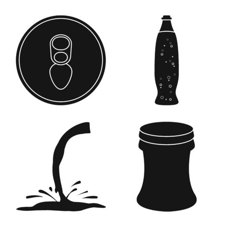 Vector design of drink and beverage  . Set of drink and refreshing vector icon for stock. Ilustração
