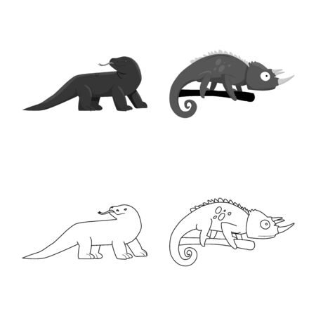 Isolated object of tail and fauna icon. Collection of tail and environment stock vector illustration.