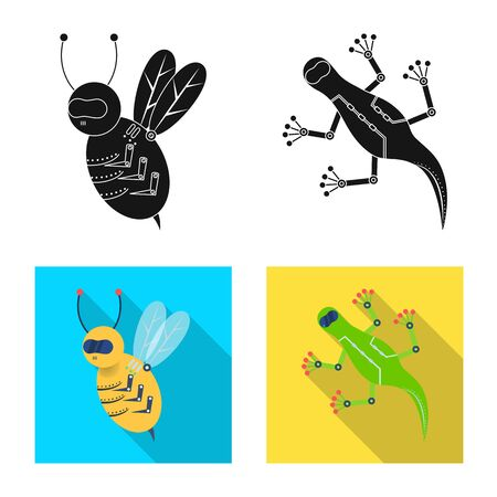 Vector illustration of toy and science sign. Collection of toy and toy stock symbol for web.