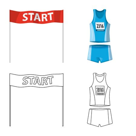 Vector illustration of sport and winner icon. Collection of sport and fitness stock symbol for web.