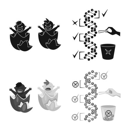 Vector illustration of test and synthetic sign. Collection of test and laboratory vector icon for stock.