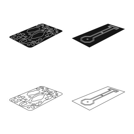 Vector illustration of playground and sport sign. Set of playground and scene stock vector illustration.  イラスト・ベクター素材