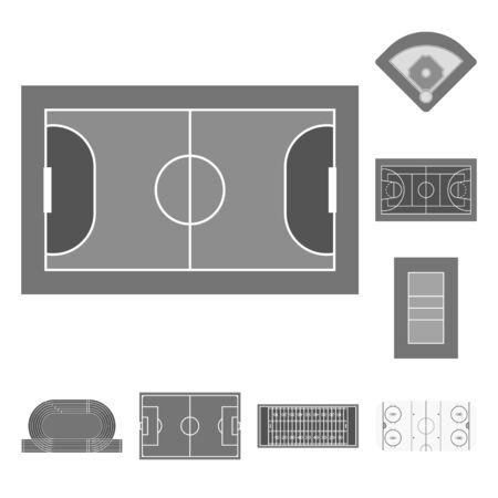 Vector illustration of grass and game sign. Collection of grass and construction vector icon for stock.
