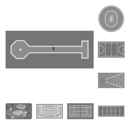 Isolated object of grass and game . Set of grass and construction vector icon for stock.