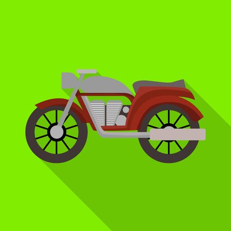 Isolated object of motorcycle and old icon. Web element of motorcycle and motorbike stock vector illustration.